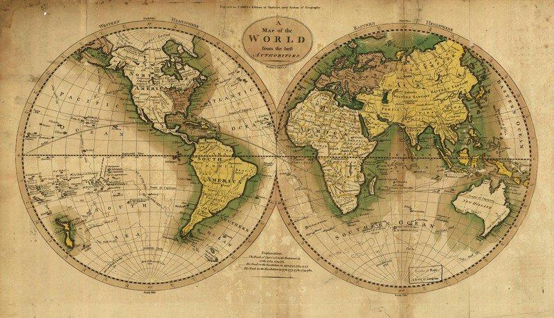 скачать карту мира на русском в высоком разрешении на русском - фото 4